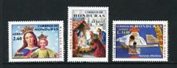 HONDURAS (2000)  sc#c1087-9 , Christmas (3v)
