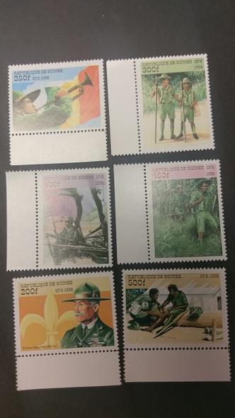GUINEA (1999) Scouting, Baden Powell (6v)