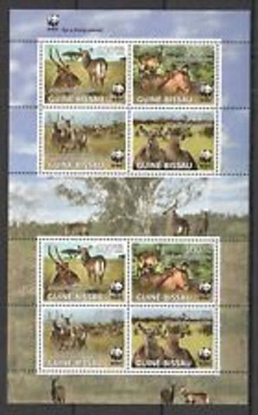 GUUNEA BISSAU (2009) WWF Water Buck Sheet Set LAST ONE
