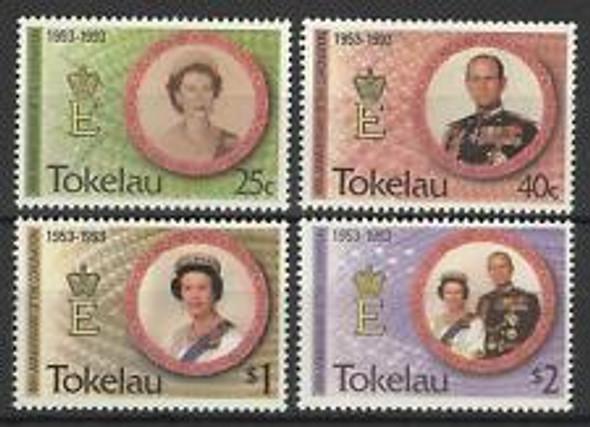 TOKELAU (1993) sc#186-9 QEII Coronation Anniversary (4v)