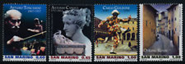 SAN MARINO (2008)  sc#1732-5  Music, Toscanni  (4v)