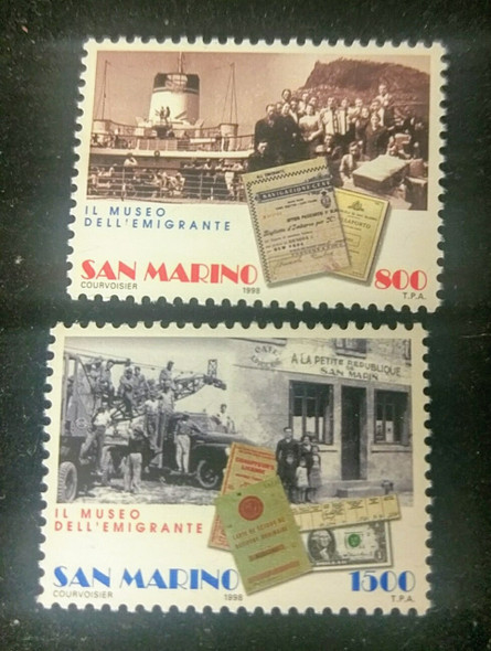 SAN MARINO (1998) sc#1424-5  Museum, Immigrated (2v)