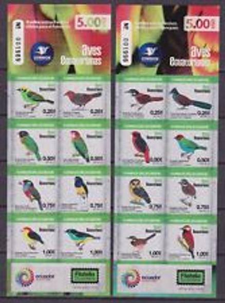 ECUADOR (2015) Birds SA Sheets Of Ten (2)