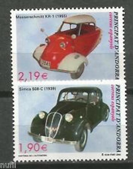 ANDORRA (2005) Spanish Admin. sc#303-4 Historic Automobiles (2v)