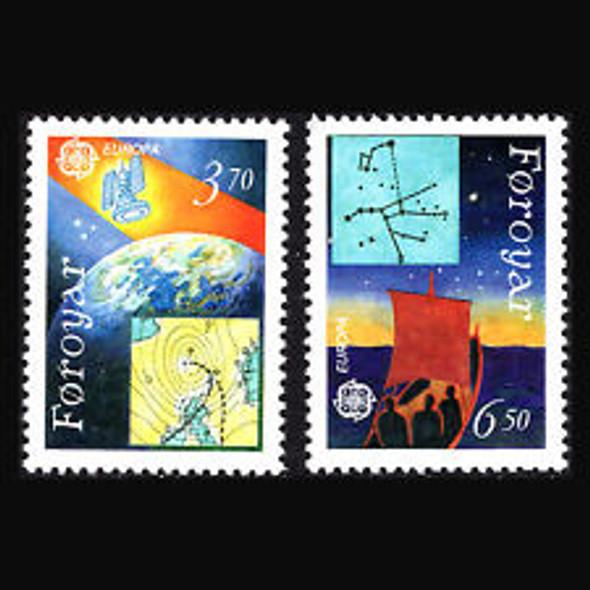 FAROE (1991) sc#220-21 EUROPA (2v)
