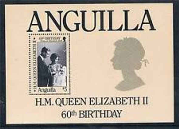 ANGUILLA (1980) 80th Birthday Queen Elizabeth SS Sheet