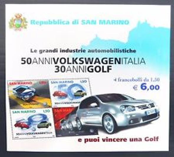 SAN MARINO (2004) sc#1607 Automobile Booklet