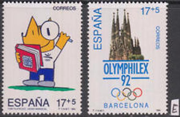 SPAIN (1992) Semi Postals , Olymphilex (2V)