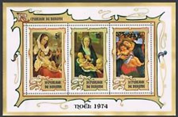 BURUNDI (1974) sc#b64a Christmas IMPERF Sheet