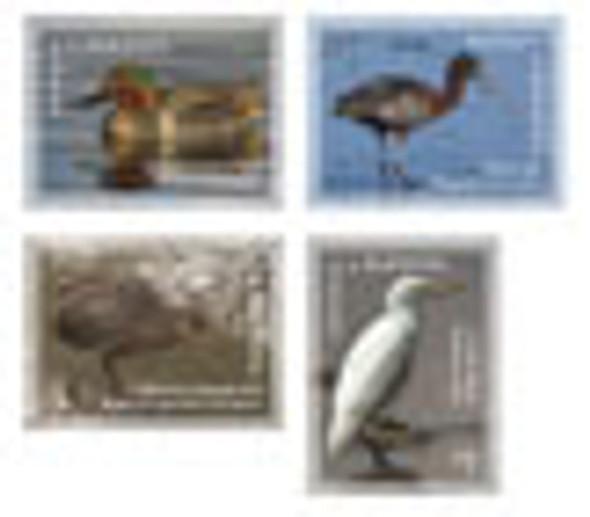 ANTIGUA- Birds- Egret- Ibis- Duck etc (4)