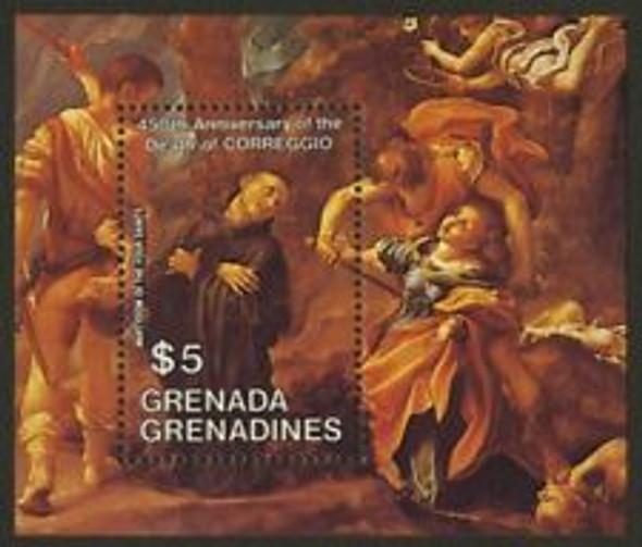GRENADA GRENADINES (1984) sc#610 Correggio , Art SS