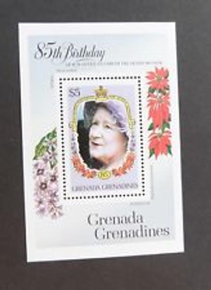 GRENADA GRENADINES (1985) Queen Mother 85th Birthday SS