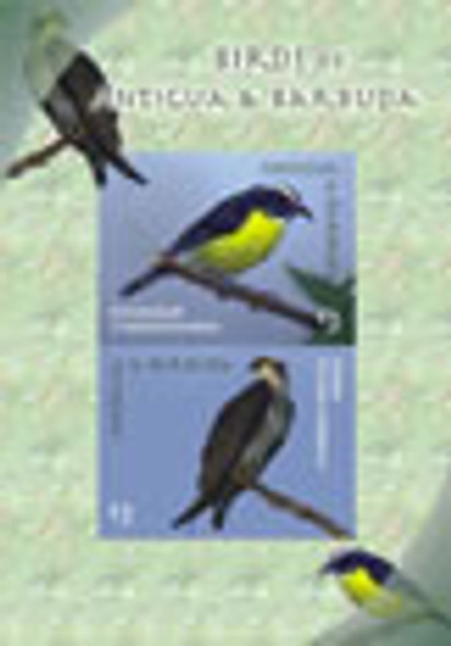 ANTIGUA- Birds- souvenir sheet- Osprey- Bananaquit