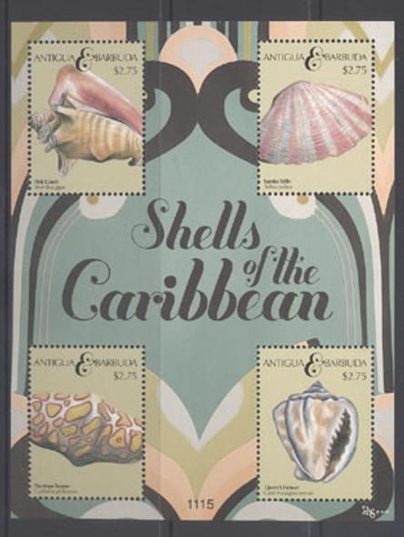 ANTIGUA- Shells of the Caribbean II- Sheet of 4