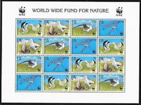 TRISTAN Da CUHNA (1999) sc#635a WWF Albatross Full Sheet