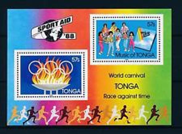 TONGA (1989) sc#681a Olympics, World Carnival, SS