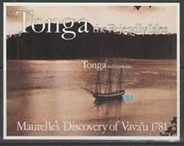 TONGA (1982) sc#492a Maurelles Discovery Of Vava'u SS