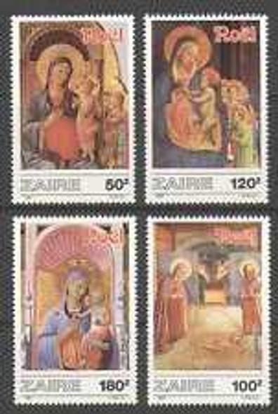 ZAIRE (1987) sc#1237-40 Christmas, Religious (4v)