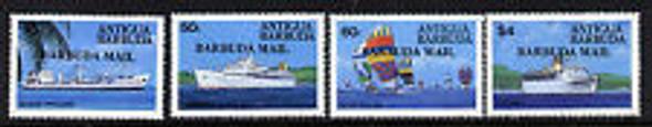 BARBUDA (1984) sc3745-9 Ships, Overprint (4v)