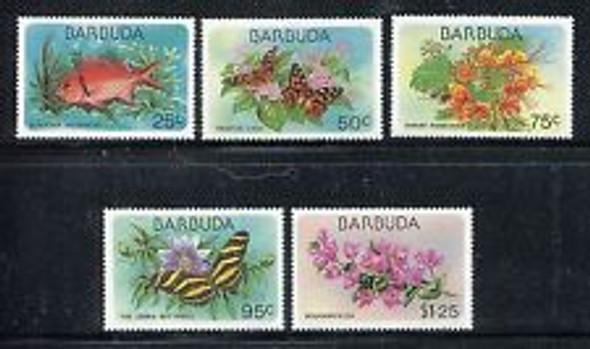 BARBUDA (1978) sc3365-9 Flora, Fauna (5v)