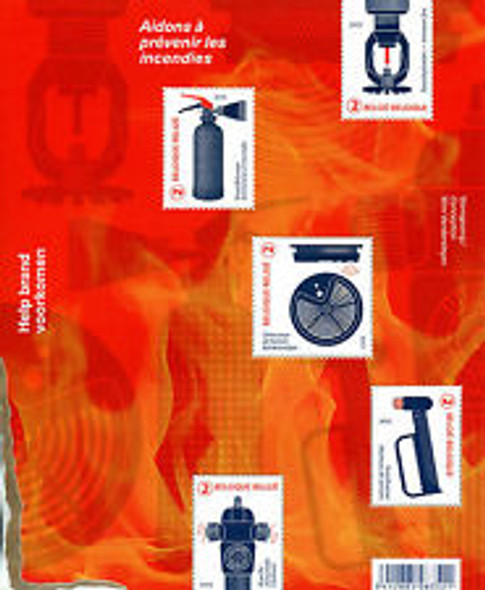 BELGIUM (2017) Fire Prevention Sheet ,Unusual Design