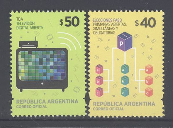 ARGENTINA (2014): Winning Decade Definitives $40 and $50- television- election (2)