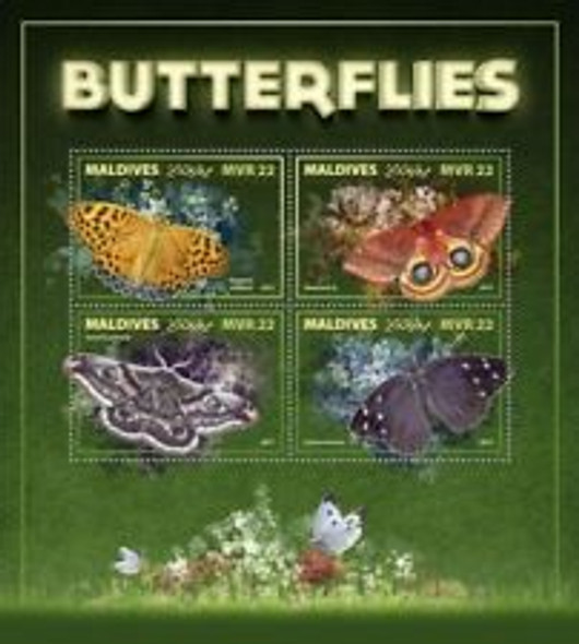 MALDIVES (2018) Butterflies Sheet