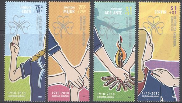 ARGENTINA- Girl Guides- semi-postals (4)