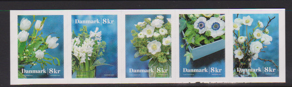 DENMARK (2018) Winter Flower SA Booklet Strip (5v)