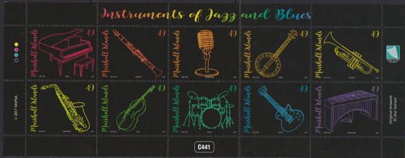 MARSHALL ISLANDS (2018) Musical Instruments Sheet