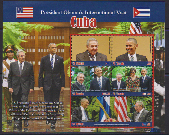 TUVALU (2017) President Obama in Cuba Sheet