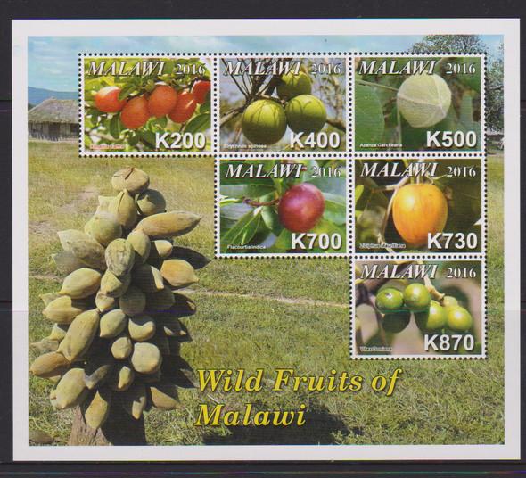MALAWI (2016) FRUIT Sheet (6v)