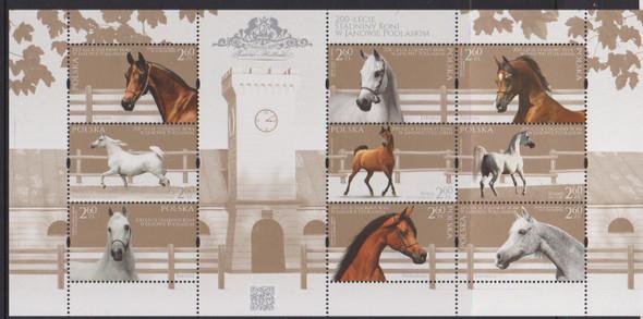 POLAND (2017) Horses,Stud Farm Sheet