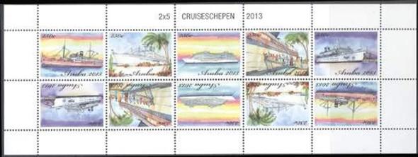 ARUBA (2013) - Cruise Ships Sheetlet- 10 values