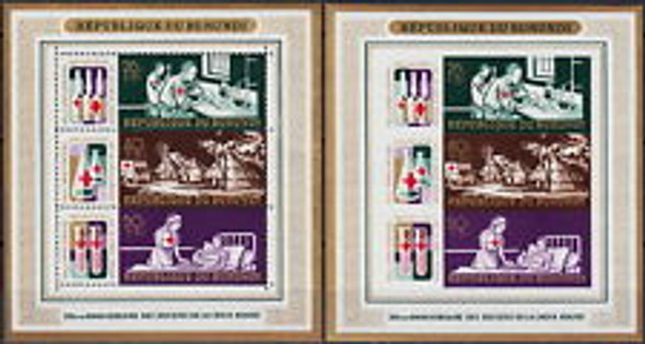 BURUNDI (1969) CB9-11 Perf and  Imperf Rd Cross SS (2)