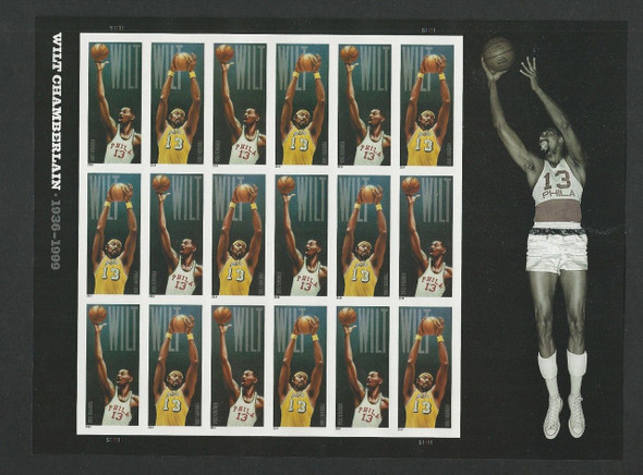 US (2015)- Wilt Chamberlain Sheet of 18- (NBA BASKETBALL)  #4951a