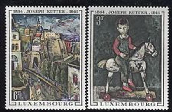 LUXEMBOURG sc#477-8 ART,Kutter (2v)