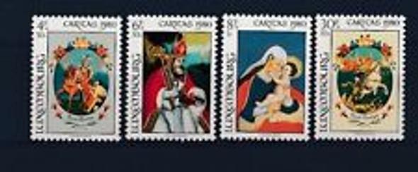 LUXEMBOURG (1980) Semi Postal, Caritas, Art, Religion (4v)