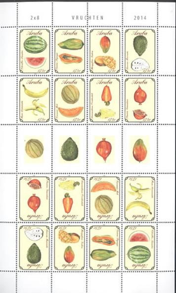 ARUBA: Fruit 2014- mini-sheet of 2 sets