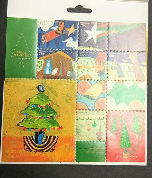 ARGENTINA (2000) Christmas Sheet in Folder