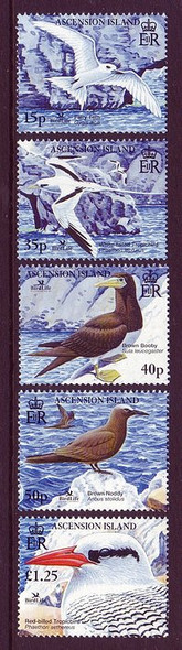 ASCENSION (2005) Seabirds (5v)