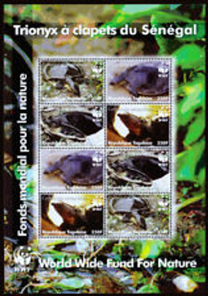 TOGO (2007) WWF Turtles Sheet of 8v
