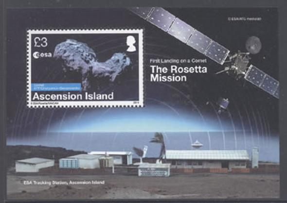 ASCENSION (2014): Rosetta Comet Mission- souvenir sheet