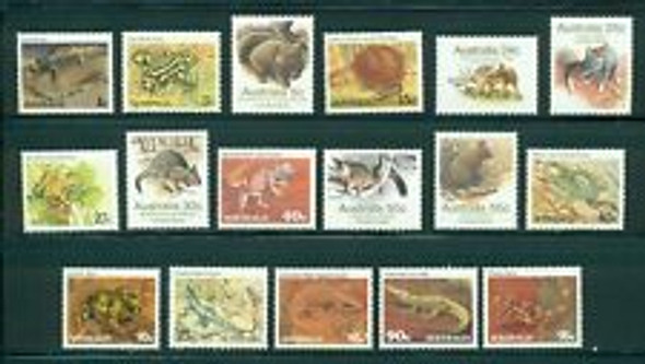 AUSTRALIA (1981-3) ANIMALS, Lizards, Snakes ETC (17v)
