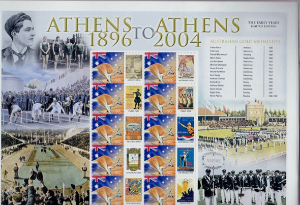 AUSTRALIA (2004) Centenary of Athens Olympic SES Sheetlet of 10 sets