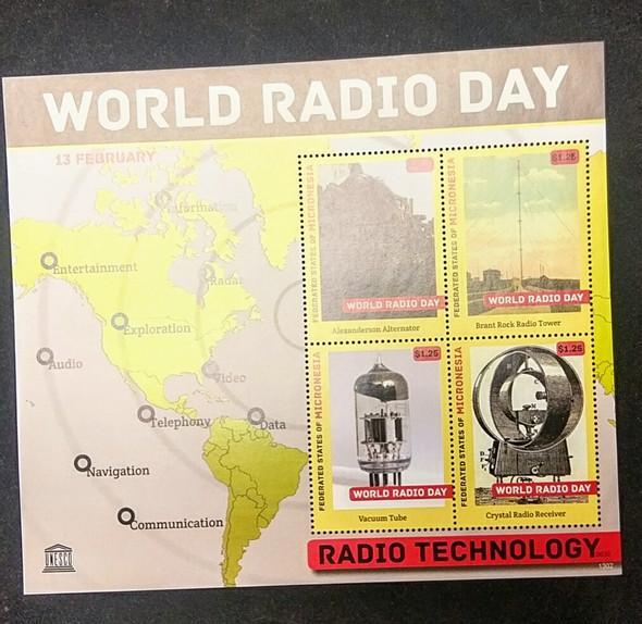 MICRONESIA (2013 ) World Radio Day Sheet