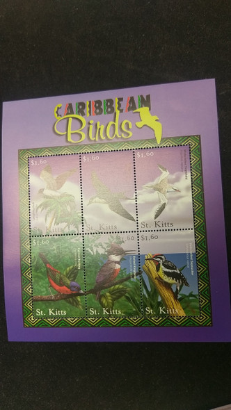 ST KITTS Flora Fauna Topical Sheets Butterflies Flowers BIrds  LAST ONES