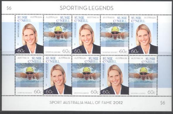 AUSTRALIA (2013) - Sporting Legend Susie O'Neil l (Swimming) - mini-sheet of 5 sets