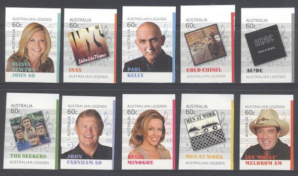 AUSTRALIA (2013)- Legends of Music- - The Seekers- AC DC- Olivia Newton John, etc (10)