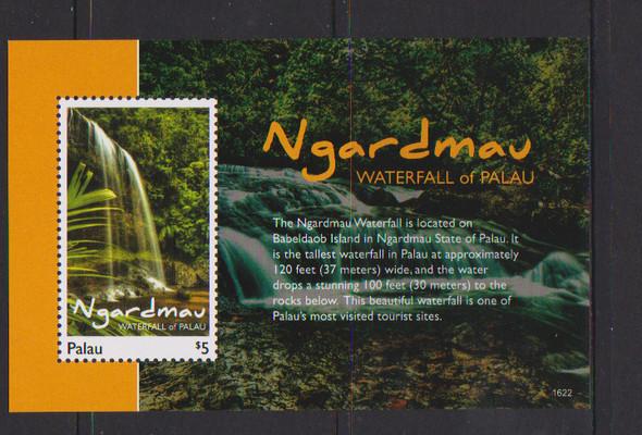 PALAU (2018)- Waterfalls- Sheet of 4 and souvenir sheet